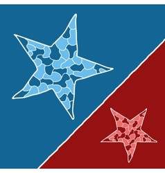 Mosaic doodle star vector image