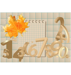 Numbers and leaf vector