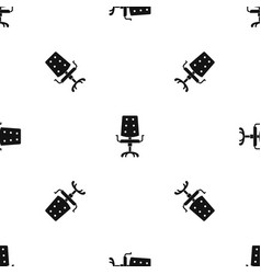 office chair pattern seamless black vector image