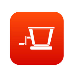 old grape juicer icon digital red vector image
