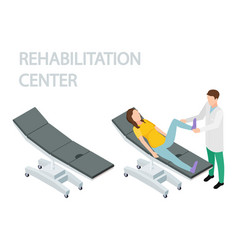 physiotherapist and rehabilitation patient empty vector image