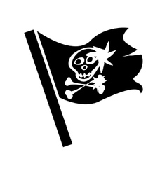 Pirate flag for design on white vector