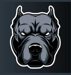 Pitbull dog head logo icon 01 vector