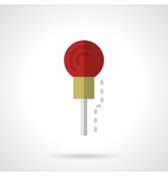 Red microphone flat color icon vector image