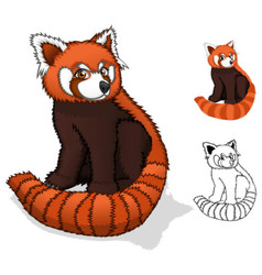 Red Panda Cartoon Character vector