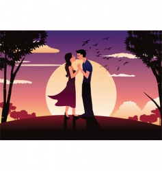 romantic vector image