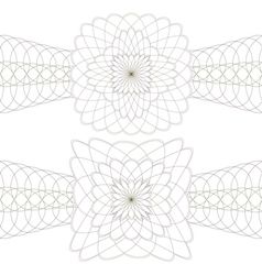 Rosette on a white background vector image