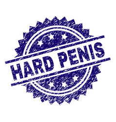 Scratched textured hard penis stamp seal vector