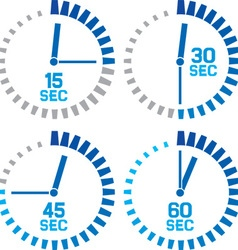 Seconds clocks icons vector image