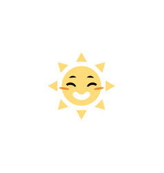 sketch hand drawn sun icon vector image