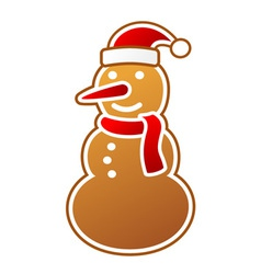Snowman gingerbread vector image