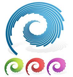Spiralling lines vector
