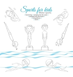 Sport for kids vector image
