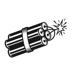 Stack burning dynamite vector