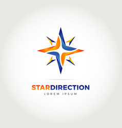 star direction logo symbol icon vector image