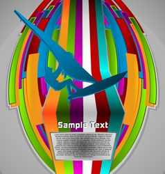 summer sport design series windsurfing theme vector image