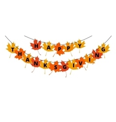 Thanksgiving banner vector image