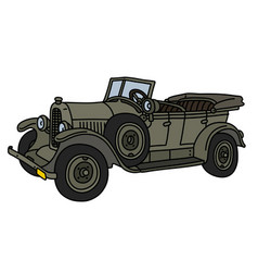 the vintage military open car vector image