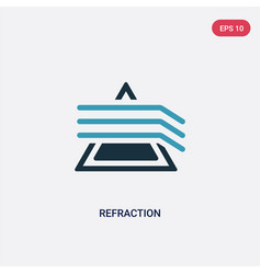 Two color refraction icon from science concept vector