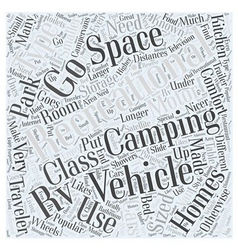 Types recreational vehicles word cloud concept vector