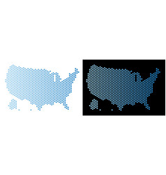usa with alaska map honeycomb scheme vector image