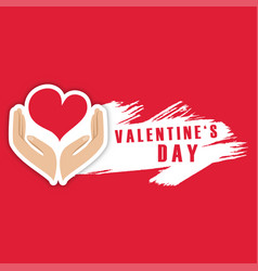 Valentine day hand of heart image vector