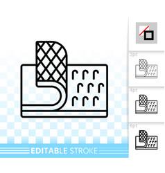 velcro fastener simple black line icon vector image