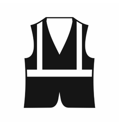 Vest icon simple style vector image
