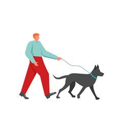 walk in park flat style design vector image