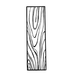 wooden letter i engraving vector image