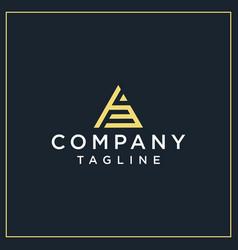 Yf or af triangle logo vector