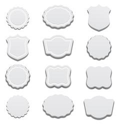 3d Retro White Labels vector image