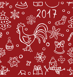 Christmas and new y pattern vector
