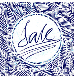 ink hand drawn background with sale lettering vector image vector image