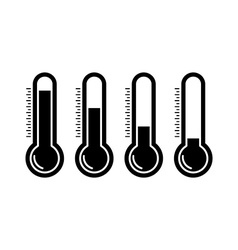 Thermometr icons vector image