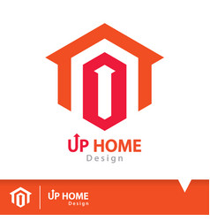up home icon symbol vector image