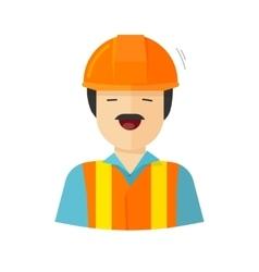 Worker construction builder vector image
