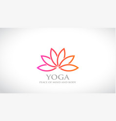 flower abstract logo lotus design spa and vector image
