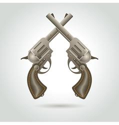 Revolver gun weapon element vector