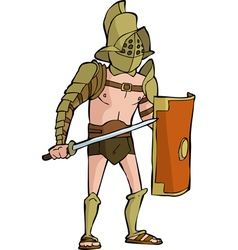 roman gladiator vector image vector image