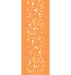 Abstract geometric chrystals vertical seamless vector image vector image