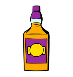 bottle of whiskey icon icon cartoon vector image