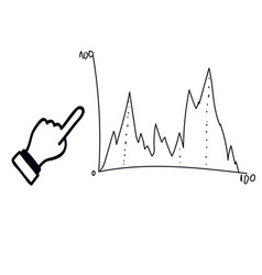business icon with graph vector image vector image