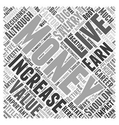 Increase your value increase your salary word vector