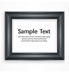 Wooden black frame on white vector image vector image