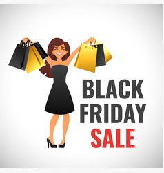 black friday banner template vector image vector image