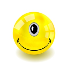 Cyclop Smilie Face vector image