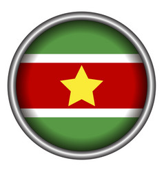 isolated flag of suriname vector image vector image
