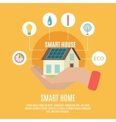 Smart home concept flat icon poster vector image vector image