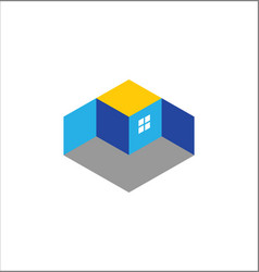 3d building logo vector